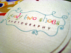 goody two shoes photography hang tags