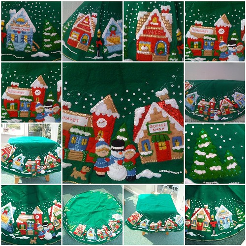 Christmas Village Tree Skirt - Handmade by Mrs Twins.
