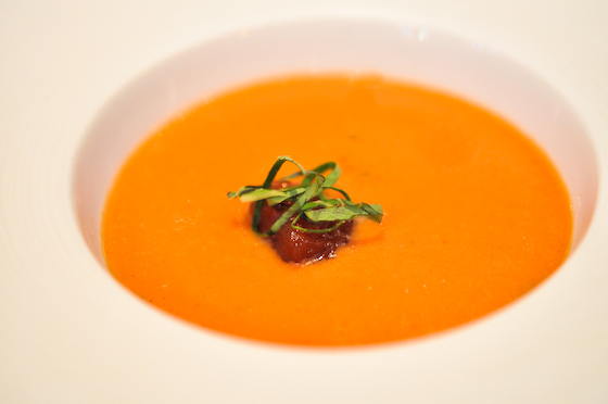 Morgan M: Chilled tomato gaspacho