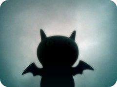 """""""I think a coldfront is coming."""" (willycoolpics.) Tags: ice weather toy grey doll action gray bat ugly figure uglydoll picnik icebat gonnarain icebatthinksso"""