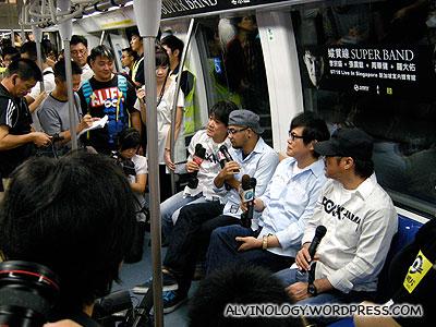 Unique press conference held inside a moving train cabin