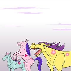 Care Bears/My Little Pony showdown (AtomComedy) Tags: danmeth toymovies