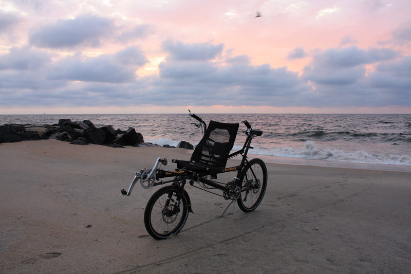 Bike and Beach at Sunrise