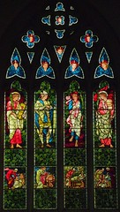 Burne-Jones window, Hatfield (robin.croft) Tags: church angel martin stainedglass margaret hatfield anglican hertfordshire dorcas burnejones etheldreda rebec morrisco angemusicien
