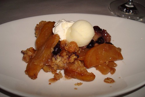 Apple Crumble with Lemon Sorbet