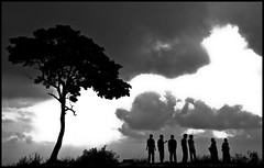 Up above the world so high (Prahar Mitra) Tags: friends silhouette temple krishna mysore abhishek bits amar ajay kaswan grandtrip ajaysmom jaiswin