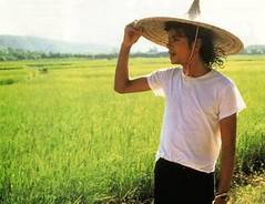 Michael Jackson  thăm lúa ! ( việt nam ?) por Alex No