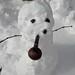 Julia's first snowman