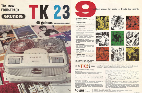 Grundig TK 23 Advertisement