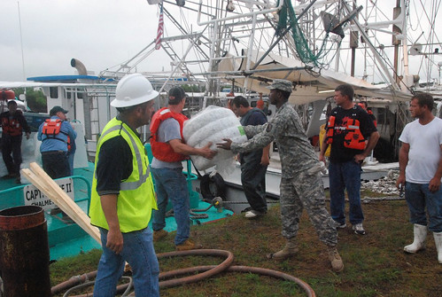 National Guard and BP Gulf Oil Spill with U.S. Military and Volunteers, Image