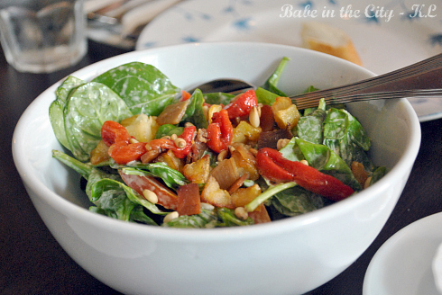 Spinach Salad, with Red Peppers n Bacon Strips RM18