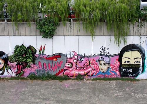 Kuala Lumpur Creek Graffiti