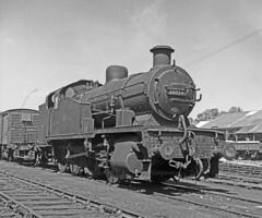30954 Exmouth Jn 5 June 1962 (pondhopper1) Tags: blackandwhite white black steam railways uksteam 080t