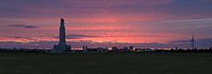 Blood Red (Aaron_Bennett) Tags: uk sunset red sky panorama color art beach silhouette clouds landscape blood glow landmark portsmouth spinnakertower naval darkclouds southsea d300 bloodred sigma2470mm aaronbennett nikond300
