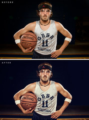 117/365 Billy Baller [ALTERNATE Before/After] (matthewcoughlin) Tags: basketball photoshop burn dodge softbox tutorial highpass screencast speedlite youtube offcameraflash strobist matthewcoughlinpostprocessing