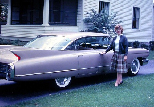 Liz with Car