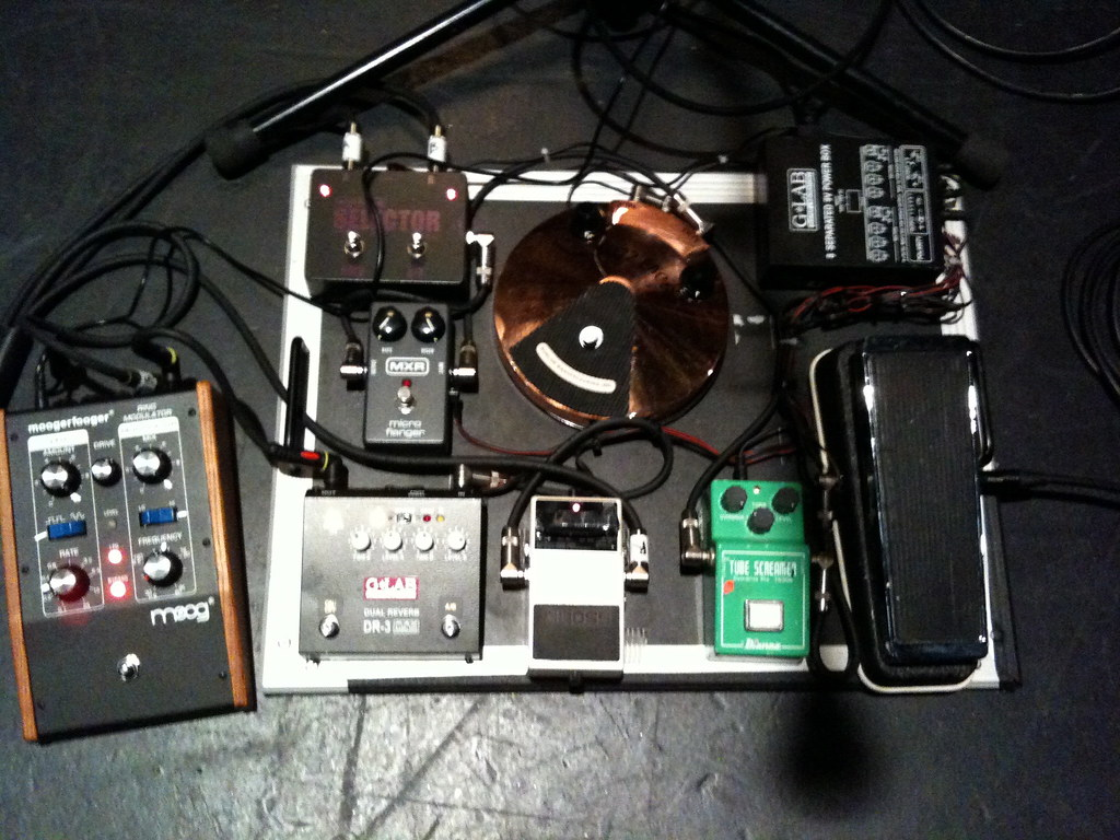 Joes Big Reverbicated Delayed Tone Page 3 Guitars Amps Of Tokairegistrycom View Topic Les Paul Vintage Modern Wiring Its Pretty Much A Similar Board To What Pete The Cabby Posted From His Bcc Gig Except Joe Had Mooger Fooger Ring Modulator On This Which He