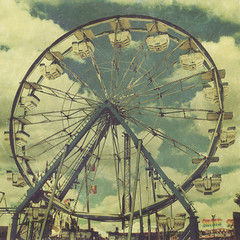 """Spring Time Ferris Wheel"" (eleven12design) Tags: park carnival summer texture childhood wheel vintage design amusement colorado greg ferris denver retro aged midway rolfes eleven12"