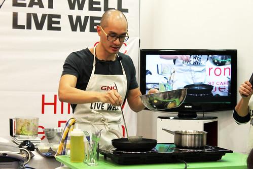 Chef Him Uy De Baron - GNC Eat Well, Live Well Shangri-la Mall Launch