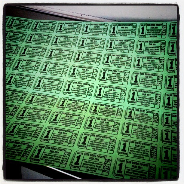 Ride tickets.