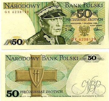 50 Zlotych Poľsko 1988, Pick 142