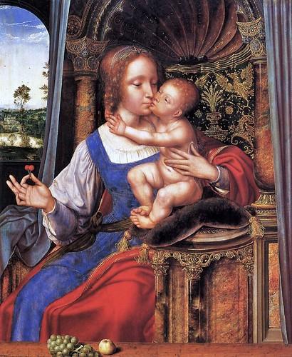 Quinten Metsys (Netherlandish painter, 1466-1530) Madonna and Child (2)