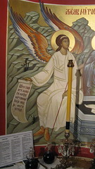 Angel of the Resurrection (A Whistling Train) Tags: church icons indiana orthodox serbian saintsava merrillville