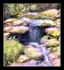 Watercolor Waterfall (Rebel XT Shots / Bobbie) Tags: waterfall photoart illuminatedwatercolors mastersoflight magicdonkeysbest finephotoshopdesign absolutegoldenmasterpiece heavenlycaptures