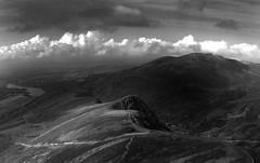 Snowdonia - clouds ripple across the range.. (jimmedia) Tags: sunset sky panorama history grass clouds fence moody wind ripple snowdonia across range snowdoniacloudsrippleacrosstherange astheffestiniograilwaymakesitswayuptosnowdon