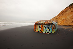 Fort Funston Bunker (Richard K Tong) Tags: ocean sf sanfrancisco california urban art beach war grafitti pacific fort military bunker funston hella canonef1635mmf28lusm canoneos5dmarkii