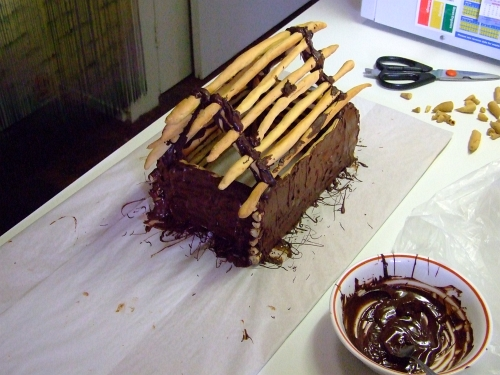 chocolate log cabin 22