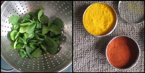 spinach and spices