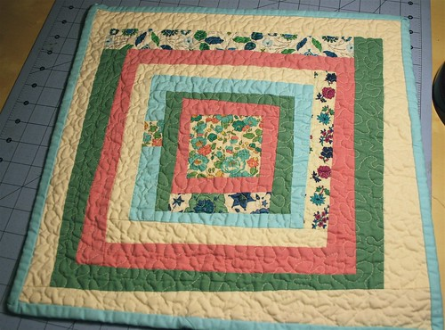 Liberty print mini quilt