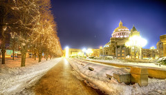 A Chilly Night in Boston (Stuck in Customs) Tags: city blue trees sky panorama snow cold church beauty boston night radio buildings hearts photography lights blog amazing nikon warm photographer snowy massachusetts details freezing pro romantic nightlife lovely mass hdr scientist bostonian stuckincustoms d3x treyratcliff nikond3x