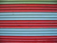 (Gabri Le Cabri) Tags: red paris green metal grey graffiti stripes shutter buff 75015 erased paris15
