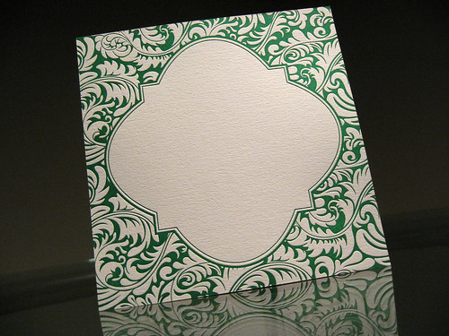 Florence Letterpress Wedding Invite