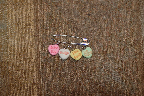 Conversation Heart stitch markers