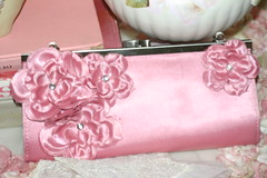 Sweet Pink Purse! (Sherry's Rose Cottage) Tags: pink vintage purse bling pinkpurse vintagepurse