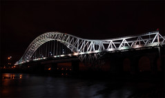 Runcorn Bridge (JTD-Matt) Tags: longexposure bridge nikon d200 runcorn widnes roadbridge runcornbridge