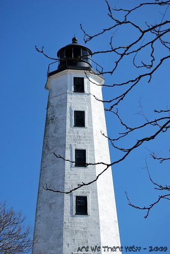 Close-up of New London Lighthouse