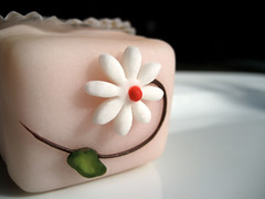 FAIRY CAKE (ocean-pearl) Tags: pink red food brown white flower colour green art yummy pretty colours candy sweet tasty delicious gift present sweets marzipan treat delicate artful confectionery aesthetic kickshaw fairycake culinarydelight daedal