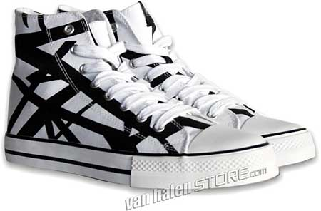 56d9490ef14 Eddie Van Halen Striped Sneakers Now Available! - Blabbermouth.net