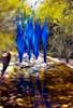 Dreaming (Foxicat) Tags: blue arizona reflection chihuly art water glass phoenix yellow gardens botanical interestingness foxicat desert explore artglass desertbotanicalgardens dbg interestingness442 i500 fractalius explore3apr09
