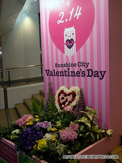 Valentines Day was just round the corner - in fact, it falls on the day of our return flight to Singapore