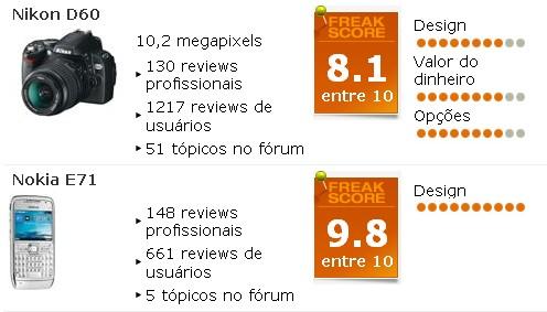 Test Freaks: Site de reviews de produtos eletrônicos