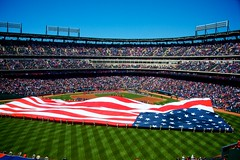 Ranger Ballpark in Arlington - Play Ball! (Matt Pasant) Tags: arlington al texas baseball tx rangers texasrangers openingday mlb outfield americanleague nolanryan g9 supershot openingpitch canong9 americanleaguewest