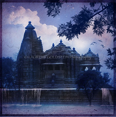 The Land of Mowgli (designldg) Tags: blue sky india heritage water birds mystery architecture night clouds spectacular temple evening colours magic dream atmosphere jungle monsoon imagination soe contrejour khajuraho madhyapradesh  supershot indiasong theunforgettablepictures rubyphotographer