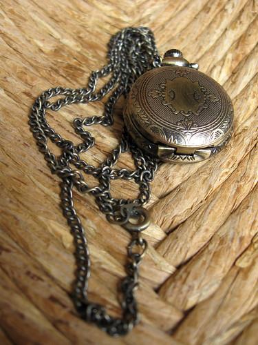 My pocket watch necklace by finkgifts