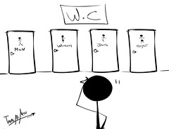 W.C (Talal Al-Mtn) Tags: boy man art mall fun women funny paint wc kuwait draw q8 talalalmtn