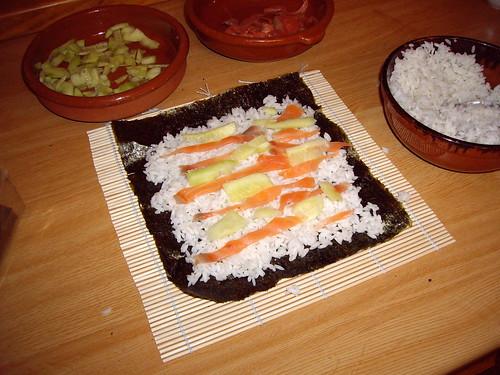 Sushi  (desenrollado)